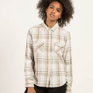 NWT VOLCOM NEW FLAME LONG SLEEVE FLANNEL SHIRT